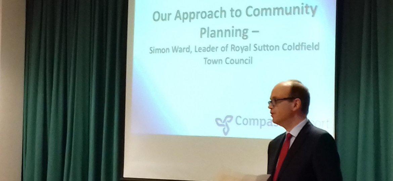 Cllr Simon Ward addresses the Falcon Lodge Conference